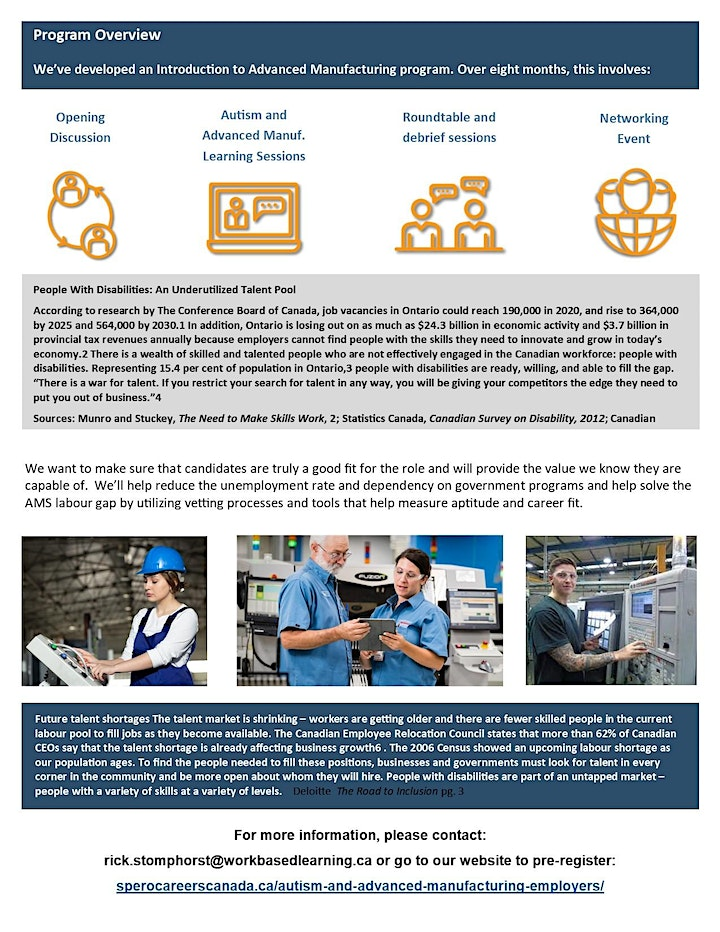 Online Info Session for Halton Employers: Autism & Advanced Manufacturing image