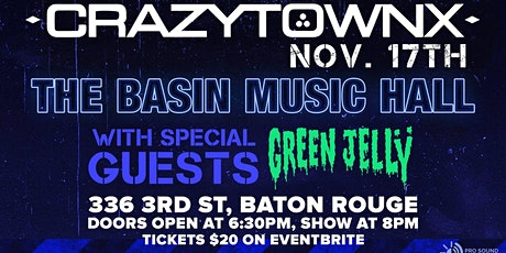 Crazytown with special guest Green Jelly tickets