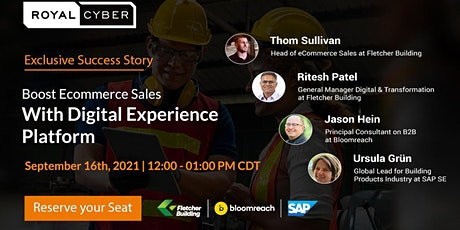 Live Webinar: Boost Ecommerce Sales With Digital Experience Platform tickets