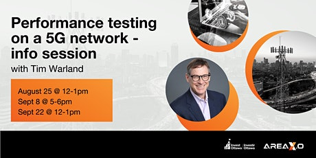 Performance testing on a 5G network : Info session tickets