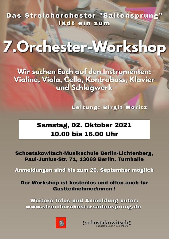 7. Orchester-Workshop für Streichinstrumente, Schlagwerk und Piano: Bild