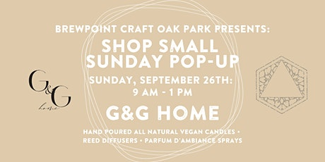 Shop Small Sunday Pop- Up: G&G Home tickets