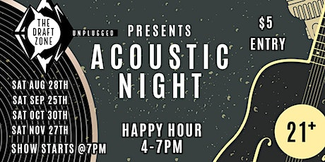 The Draft Zone Presents Acoustic Night tickets