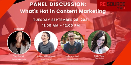 Panel Discussion: What's Hot in Content Marketing tickets