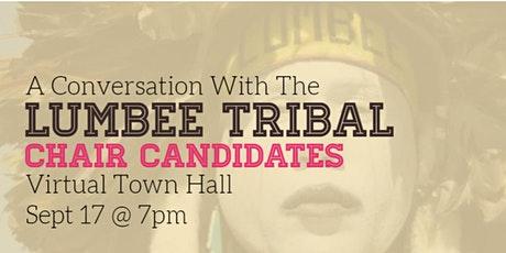 A Conversation With The Lumbee Tribal Chair Candidates tickets