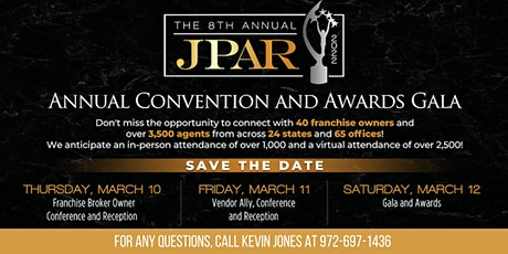 2022 JPAR Convention and Awards Gala Sponsorships tickets