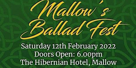 Mallow Ballad fest .An evening of Irish ballads by top acts tickets