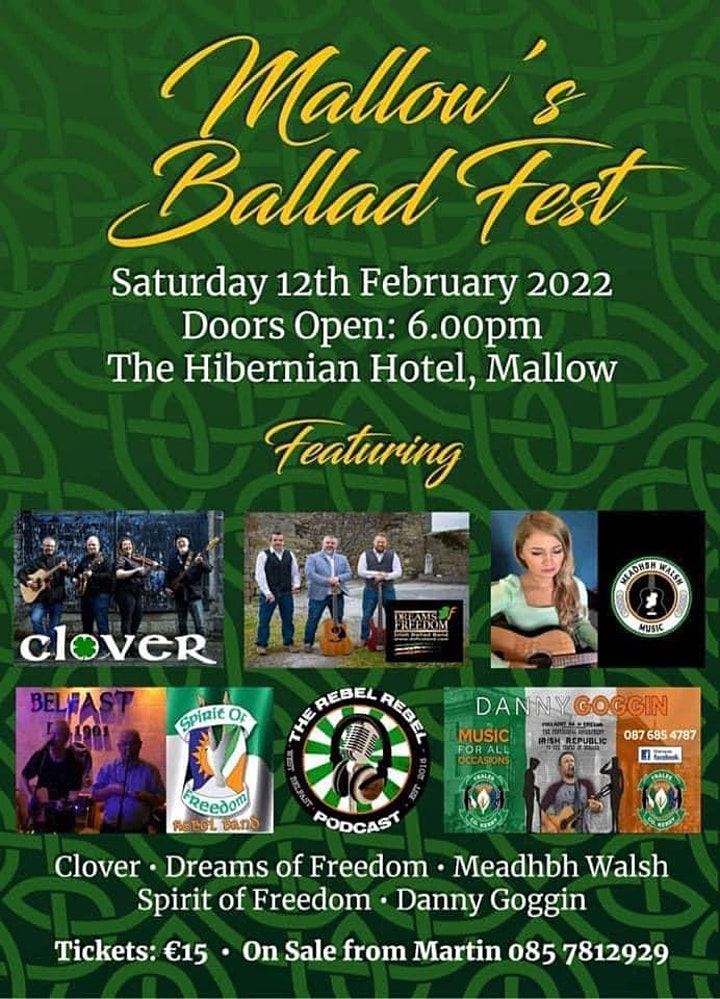 Mallow Ballad fest .An evening of Irish ballads by top acts image