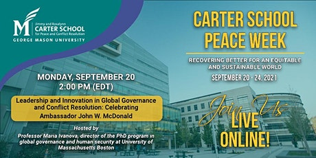 Leadership and Innovation in Global Governance and Conflict Resolution tickets
