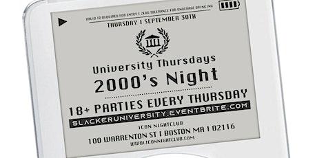 University Thursdays - Early 2000's Night tickets