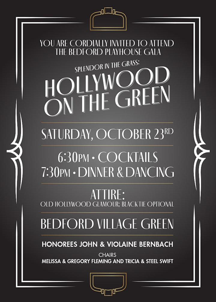 Bedford Playhouse Gala: Splendor in the Grass: Hollywood on the Green image