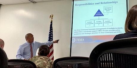 FEMA ICS-400: Advanced ICS Command General Staff – Complex Incidents tickets