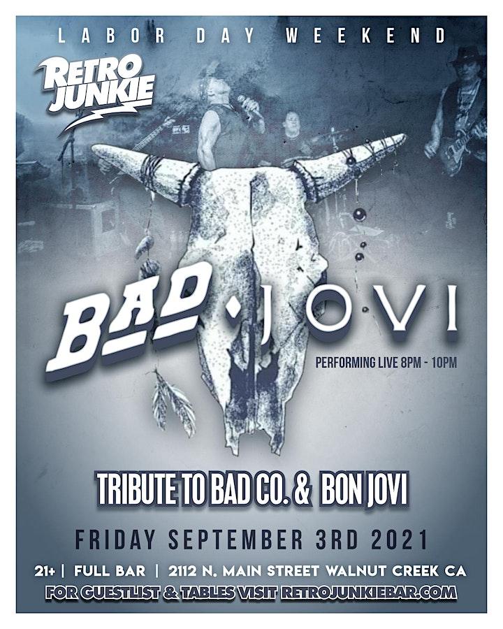 Bad Jovi. (Bad Company + Bon Jovi Tribute) LIVE @ Retro Junkie image