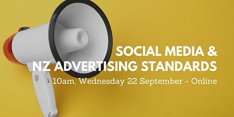 Social Media and NZ Advertising Standards - Online Workshop tickets