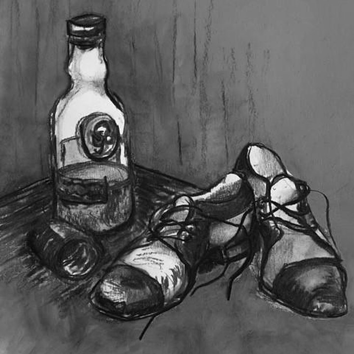 Charcoal Drawing and Mixed Media image