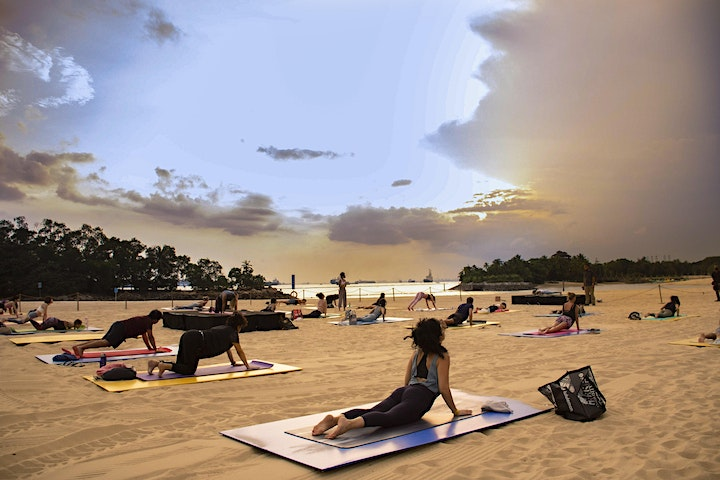 Sunset Yoga by the Beach image