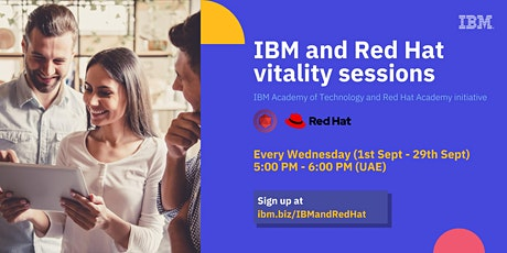 IBM and Red Hat Vitality sessions for MEA Technical Community tickets