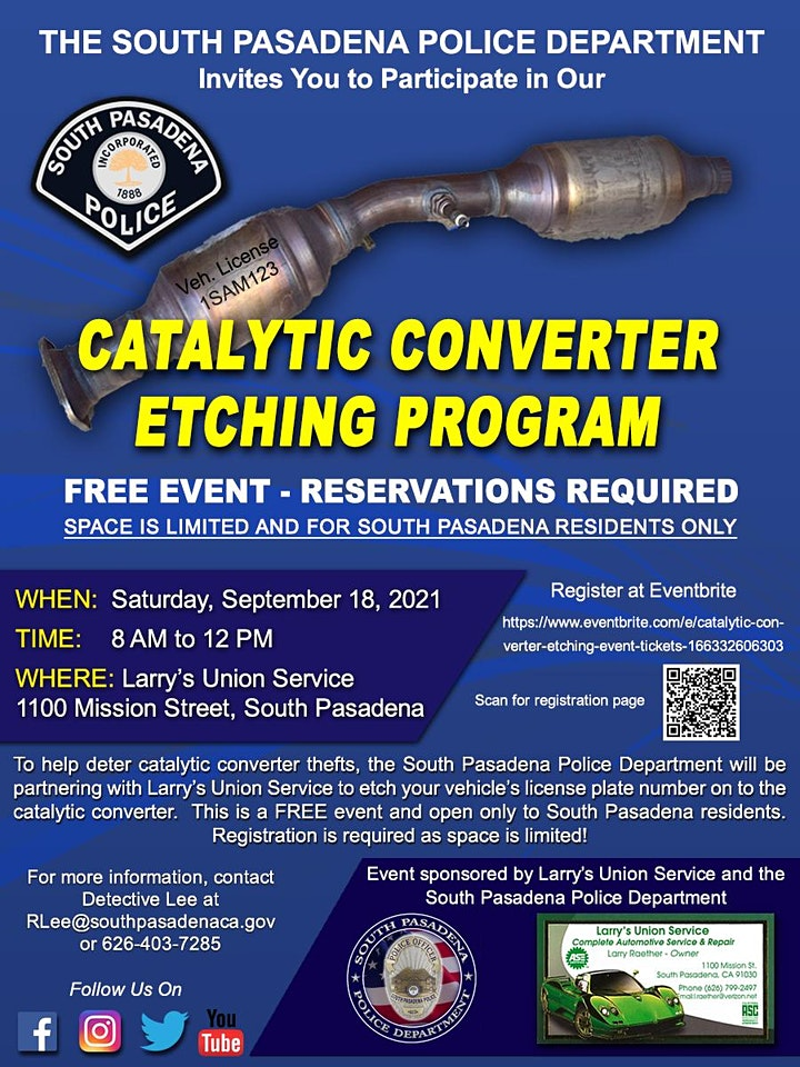 Catalytic Converter Etching Event image