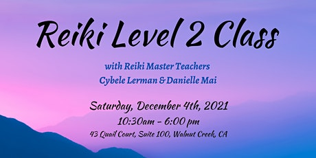 Reiki Level 2 Class - share remotely, practice professionally, use symbols tickets
