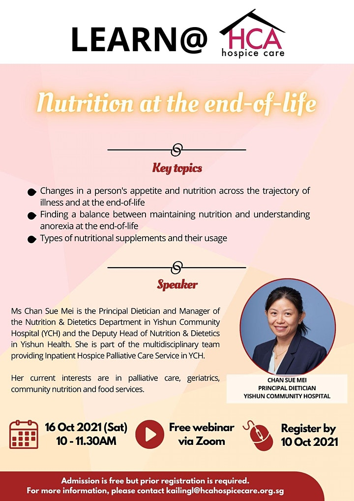 Learn@HCA #22: Nutrition at the end-of-life image