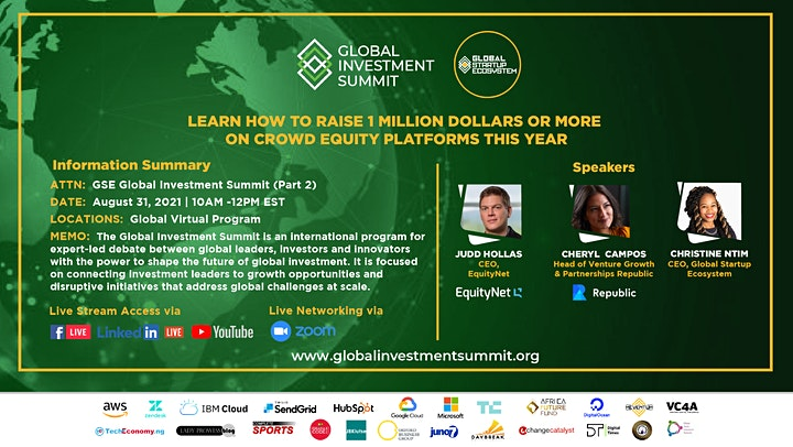 GSE Global Investment Summit (Part 2 Crowd Equity Crowd funding ) image