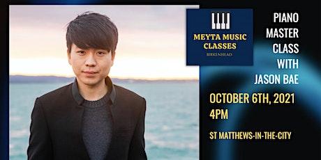 Piano MasterClass with Jason Bae tickets