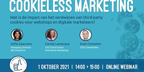 Cookieless marketing Webinar - marketing zonder third-party cookies tickets