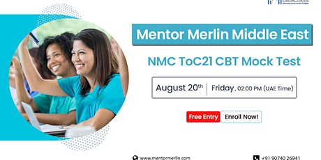 Mentor Merlin Middle East NMC CBT Training-Free ToC 21 CBT Mock Test tickets