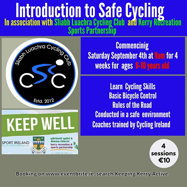 Keeping Kerry Active - Introduction to Safe Cycling (Under 10's) image