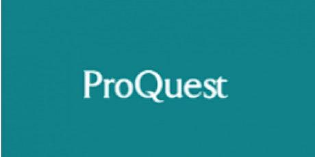 Proquest databases  webinar training tickets