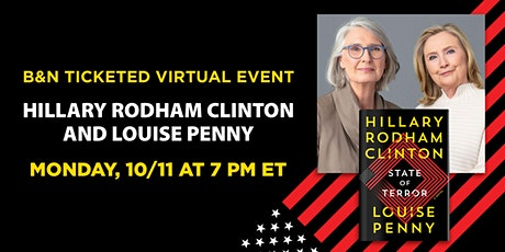 Hillary  Rodham Clinton and Louise Penny discuss STATE OF TERROR tickets