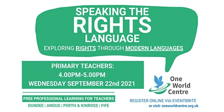 'Speaking The Rights Language' - PRIMARY tickets