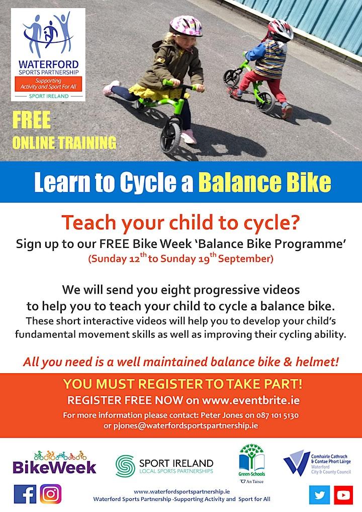 Bike Week - Learn to Cycle a Balance Bike image