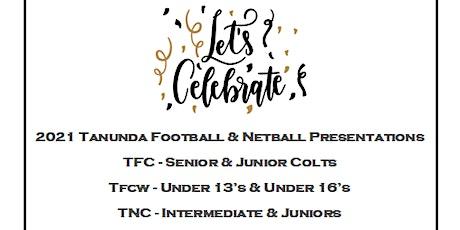 2021 TFC U15/U17, TFCW U13/ U16 & TNC Inters & Juniors Presentation Night tickets