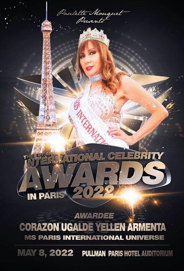 TICKETS VIP  GUESTS   for the  International Celebrity Awards Paris  2022 image