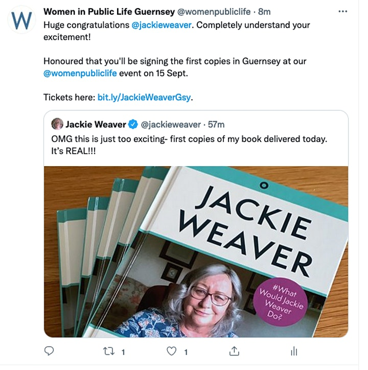 You DO have the Authority!  An evening with Jackie Weaver. image