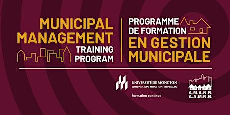 Municipal Management: Leadership, Teamwork and Communication tickets