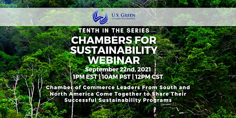 """10th """"Chambers for Sustainability"""" Webinar tickets"""