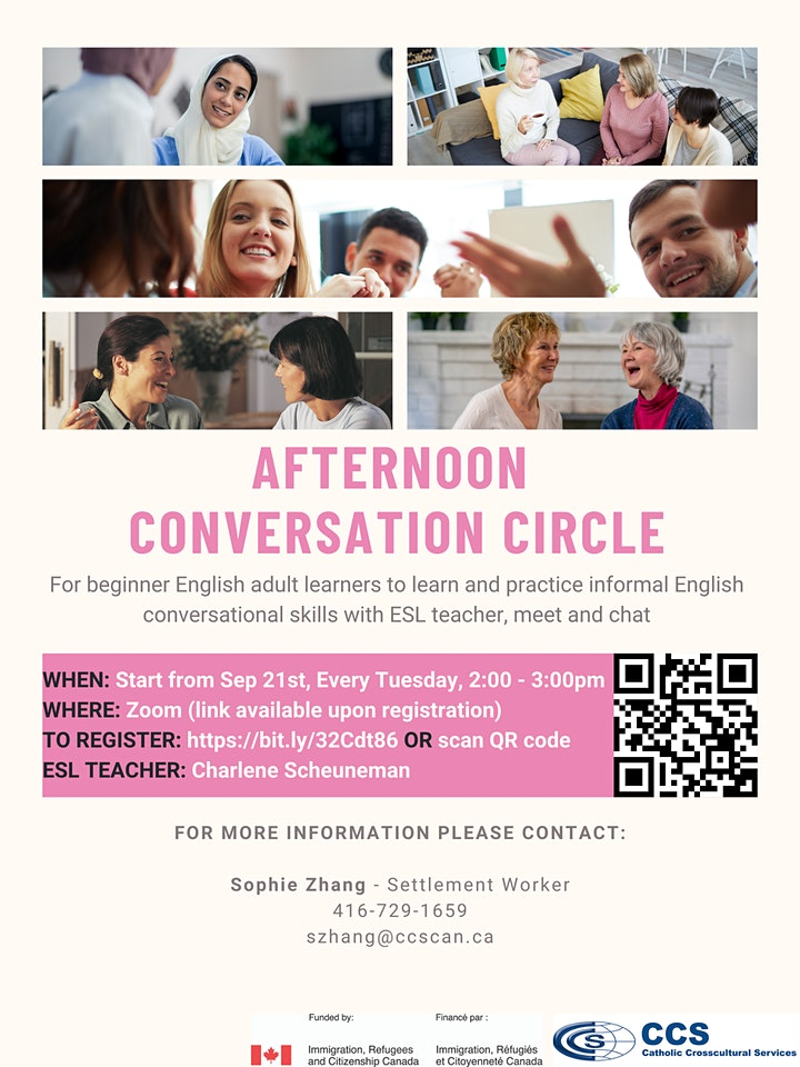 Afternoon Conversation Circle - English Conversation Circle for Newcomers image