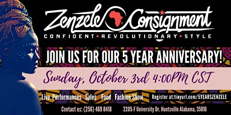 Zenzele Consignment 5 Year Anniversary tickets