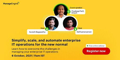 Simplify, scale, and  automate enterprise IT operations for the new normal tickets