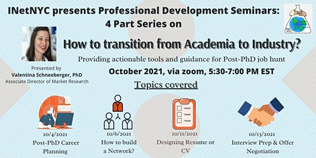 How to Transition from Academia to Industry: Post-PhD Career Planning tickets