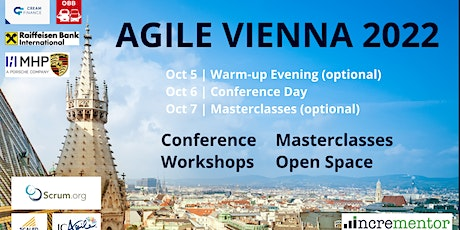 Agile Vienna| Conference and optional Master Classes tickets