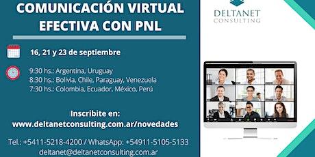 COMUNICACIÓN VIRTUAL EFECTIVA CON PNL entradas