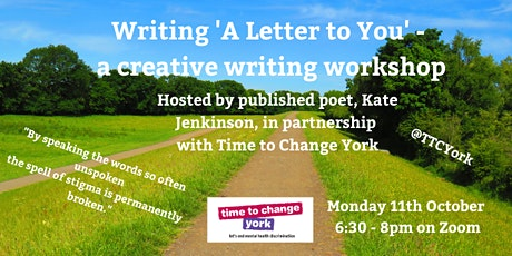 """""""A Letter to You"""" - Creative Writing Workshop tickets"""