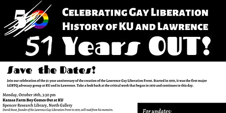 51 Years OUT! Celebrating Gay Liberation History of KU & Lawrence tickets
