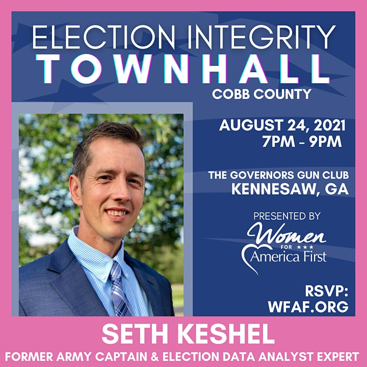 ELECTION INTEGRITY Town Hall w/ SETH KESHEL - Kennesaw, GA (Cobb Co) image