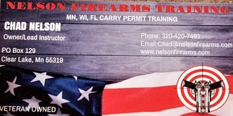 Oct 10th Multi State Permit to Carry Course tickets