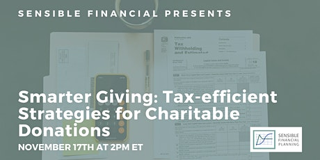 Smarter Giving: Tax-efficient Strategies for Charitable Donations tickets