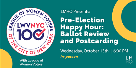 Pre-Election Happy Hour: Ballot Review & Postcarding Session tickets
